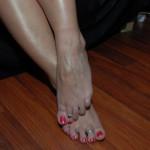 Ezada's bare feet